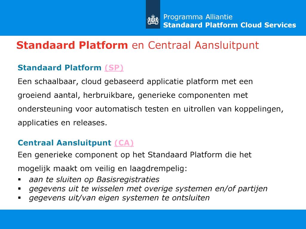 Standaard Platform